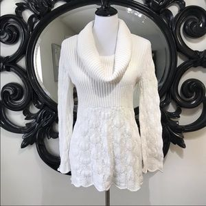 Style & Co. white cowl neck sweater size S